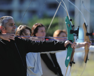 Archery Lesson with Bronze Medal Archer