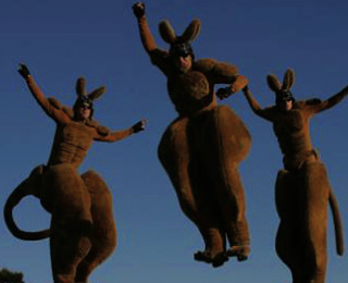 Stilt Performers – 'Roo'd'